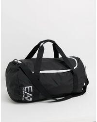 EA7 Logo Gym Bag - Black