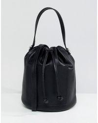 Pieces - Mini Bucket Bag - Lyst