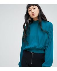 Weekday - High Neck Oversized Balloon Sleeve Top - Lyst