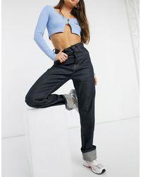 Pepe Jeans X Dua Lipa – Jeans mit hohem Bund und weitem Bein - Blau