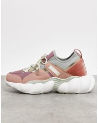 ASOS Dougie Chunky Lace Up Trainers - Pink