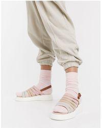 Fiorelli Silvia Suede Slingback Chunky Sandals - Natural