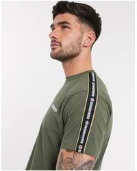 Lambretta T-shirt à bande - Kaki - Vert