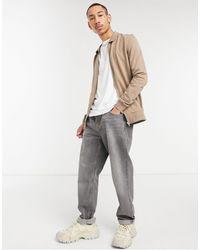 ASOS Muscle Jersey Harrington Jacket - Multicolour