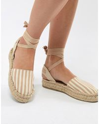 Pull&Bear - Espadrille With Tie Ankle - Lyst