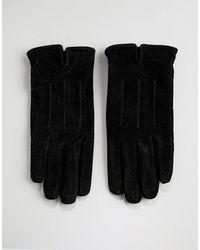 Barneys Originals Черные Замшевые Перчатки Barneys - Черный