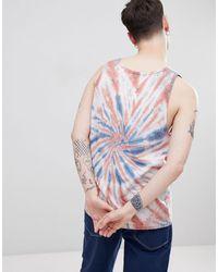 Volcom Peace Stone Tie Dye Vest - White