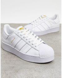 adidas Originals Белые Кроссовки Со Звериным Принтом Superstar Bold-белый