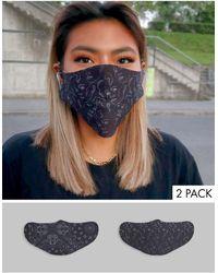 ASOS Unisex 5 Pack Face Coverings - Multicolour