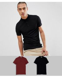 ASOS - Muscle Fit Polo In Pique 2 Pack Save - Lyst