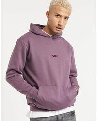 Mennace Logo Hoodie With Back Print - Purple