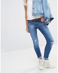 Hollister - Embroidery Detail Super Skinny Jeans - Lyst