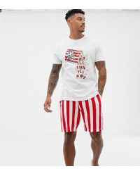 ASOS - Mr & Mrs Pyjama Set With Popcorn Design - Lyst