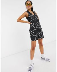 Lazy Oaf Relaxed Button Through Playsuit - Black