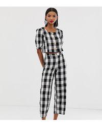 Mango Gingham Trouser Co Ord In Multi - Multicolour