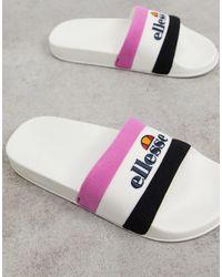 Ellesse Borgaro Logo Slider - Pink