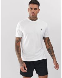 Polo Ralph Lauren Performance - Weißes T-Shirt mit Polospieler-Logo