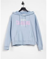 ONLY Hoodie Co-ord With College Logo - Gray