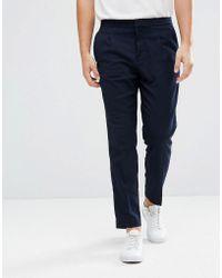 Mango - Man Smart Trouser In Navy - Lyst