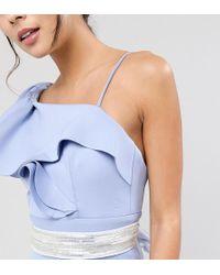 TFNC London | Wedding Embellished Tonal Delicate Sash Belt | Lyst