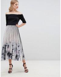 Coast - Mirabeau Printed Pleat Midi Dress - Lyst