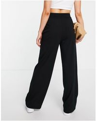 Stradivarius Wide Leg Relaxed Dad Trousers - Black