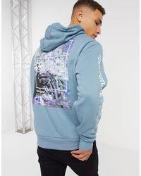 River Island Hoodie With Print - Blue