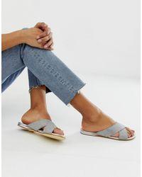 Office Show Off Embellished Flat Sandals - Grey