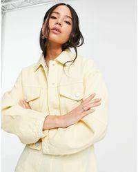 Bershka Куртка Лимонного Цвета В Стиле Casual Из Органического Хлопка -желтый