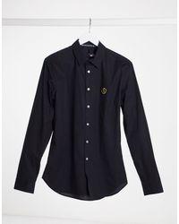 Love Moschino Рубашка С Длинными Рукавами И Металлическим Значком -черный