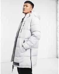 Bershka Longline Padded Puffer Jacket - Black