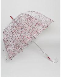 Lulu Guinness - Birdcage Umbrella In Cut Out Polka Dot - Lyst