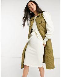 Vero Moda Padded Longline Vest - Multicolour