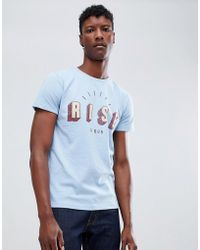 Scotch & Soda - Short Sleeve Tee With Soaked In Chest Print - Lyst