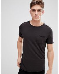 Jack & Jones - Originals T-shirt With Raw Hem Details - Lyst