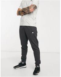 adidas Черные Меланжевые Джоггеры Stadium-черный Цвет