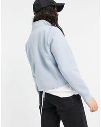 Dickies – Oakport – Fleece-Sweatshirt mit 1/4-Reißverschluss - Blau
