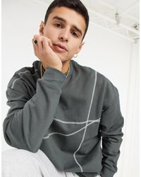 ASOS Oversized Sweatshirt - Grey