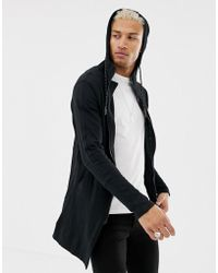 Religion - Jersey Parka With Patch Hood In Black - Lyst