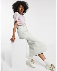 Dr. Denim Venla - Jupe boutonnée en jean - Beige - Multicolore