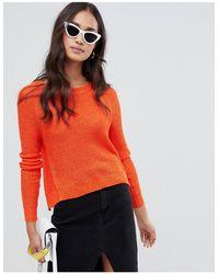 Glamorous Cropped Sweater - Orange