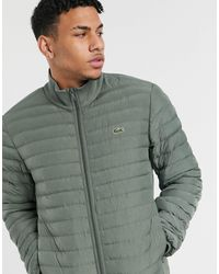 Lacoste Combinable Collapsible Lightweight Quilted Zip Jacket - Green