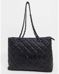 Valentino By Mario Valentino Licia - Tote bag matelassé avec anses chaînes - Noir