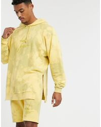 ASOS X Dark Future Co-ord Oversized Hoodie - Yellow