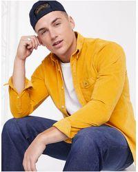 GANT Золотистая Рубашка Стандартного Кроя На Пуговицах С Карманом И Логотипом -желтый - Многоцветный