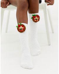 ASOS Christmas Mince Pie Cozy Sock Box - Multicolour