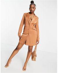 UNIQUE21 Коричневое Платье-блейзер -нейтральный - Коричневый