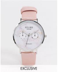 Reclaimed (vintage) Часы С Мраморным Циферблатом Inspired-белый