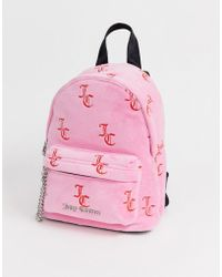 Juicy Couture Juicy Black Label Delta Mini Backpack In Pink Velvet