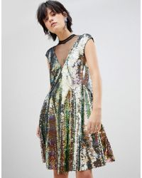 Free People Dance Till Dawn Ombre Sequined Dress - Green